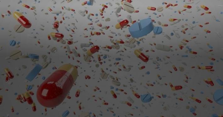 Toxic Medications, bad pharma, lots of pills floating
