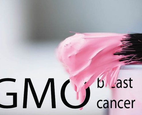 GMO breast canecer pink paint brush